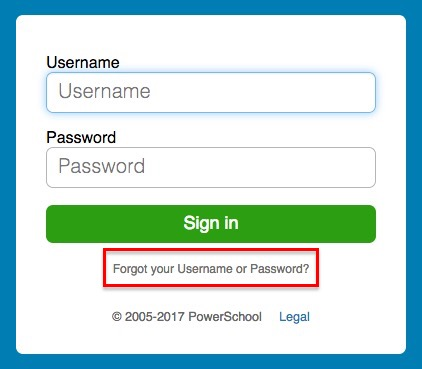 Powerschool - Username / Password